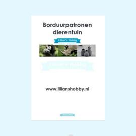 Borduurpatronenboekje digitaal met dierentuinpatronen - LielDesign