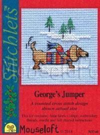 Borduurpakket George's jumper - Mouseloft