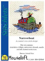 Borduurpakket  narrowboat - Mouseloft