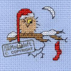 Borduurpakket Christmas eve owl  - Mouseloft