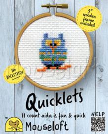Borduurpakket blue owl - Mouseloft