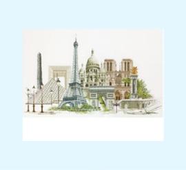 Borduurpakket Parijs - Thea Gouverneur