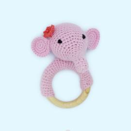 Haakpakket rammelaar olifantje - Hardicraft