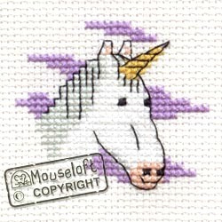 Borduurpakket  unicorn - Mouseloft