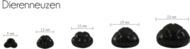 Dierenneus zwart vanaf 18 mm.