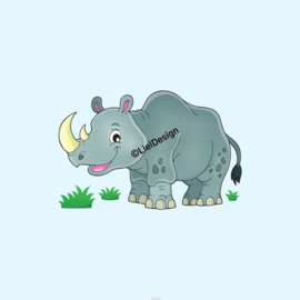 Borduurpatroon neushoorn digitaal gratis - LielDesign