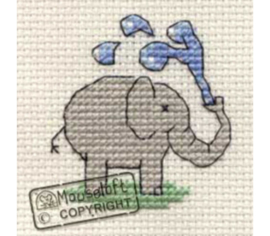 Borduurpakket playful elephant - Mouseloft