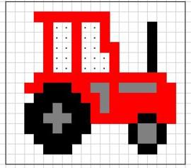 Borduurpakketje tractor - LielDesign