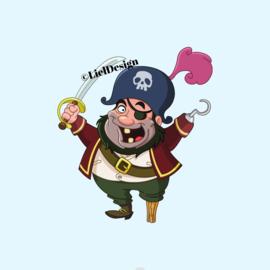 Borduurpatroon piraat digitaal gratis - LielDesign