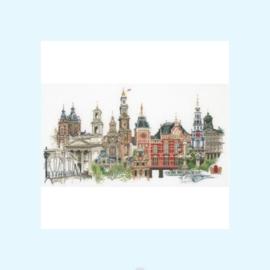 Borduurpakket Amsterdam - Thea Gouverneur