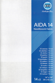 Aida 14 ct packages white 39 x 45cm