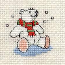 Borduurpakket polar bear - Mouseloft