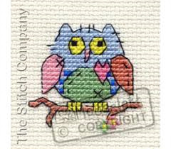 Borduurpakket patchwork owl - Mouseloft