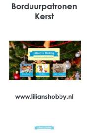 Borduurpatronenboekje digitaal met Kerstpatronen