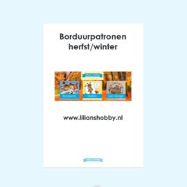 Borduurpatronenboekje digitaal met herfst-/winterpatronen - LielDesign