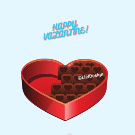 Borduurpatroon happy Valentine digitaal gratis - LielDesign