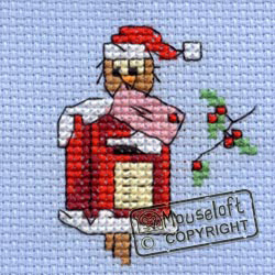 Borduurpakket mouseloft Christmas post owl ml-004-h35