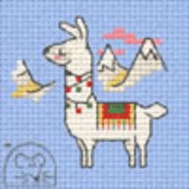 Borduurpakket decorated llama - Mouseloft