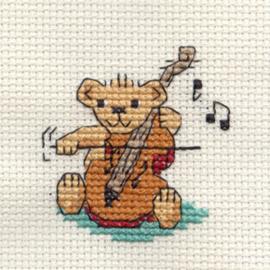 Borduurpakket string quartet Teddy - Mouseloft