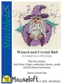 Borduurpakket wizard and crystal ball - Mouseloft