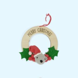 Haakpakket Kerstkrans met beertje - Hardicraft