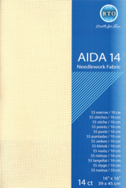 Aida 14 ct packages crème 39 x 45cm