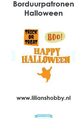 Borduurpatronenboekje digitaal met Halloweenpatronen - LielDesign