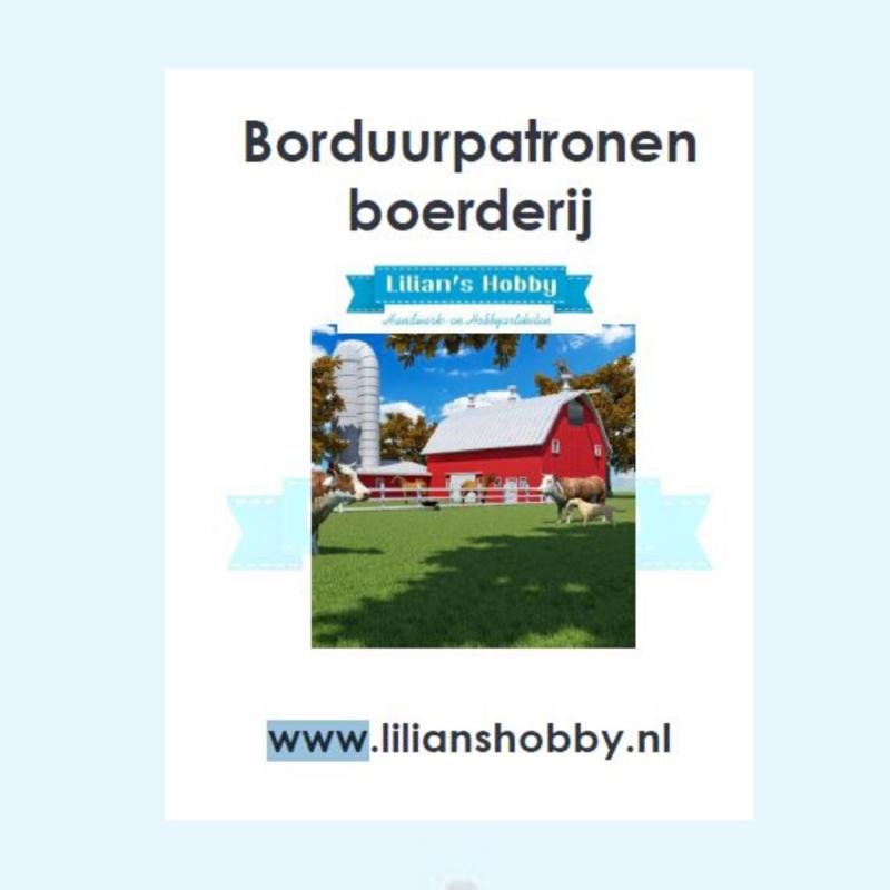 Borduurpatronenboekje digitaal met boerderijpatronen - LielDesign