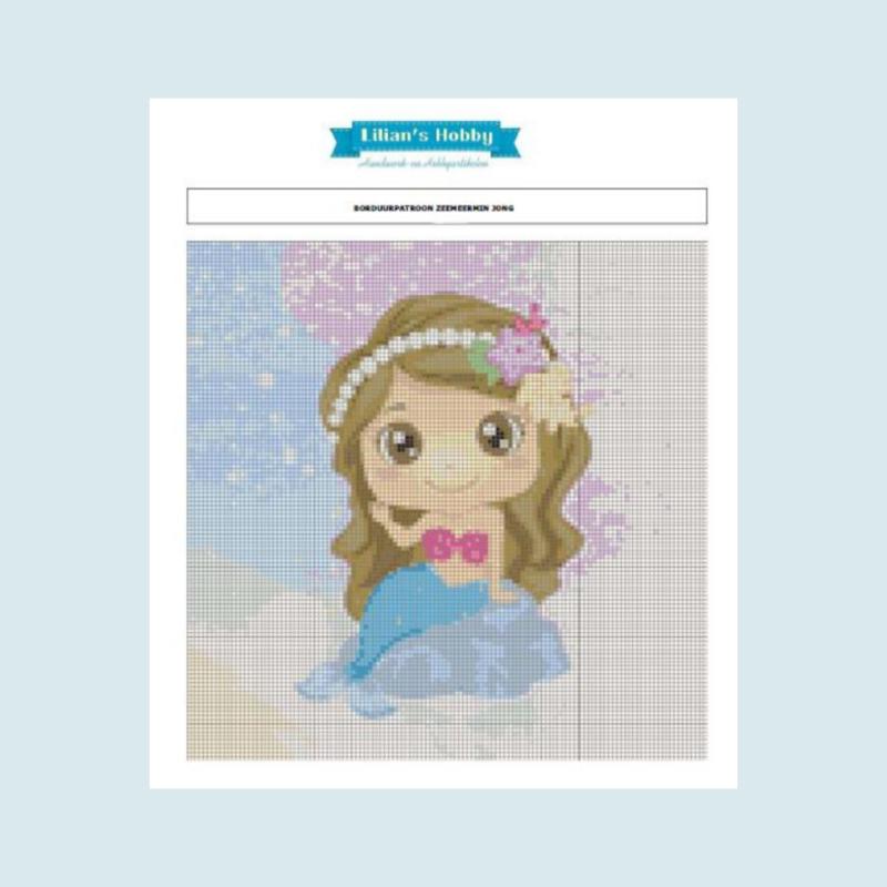 Borduurpakket  zeemeermin jong - LielDesign