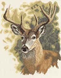 Borduurpakket red deer - Lanarte