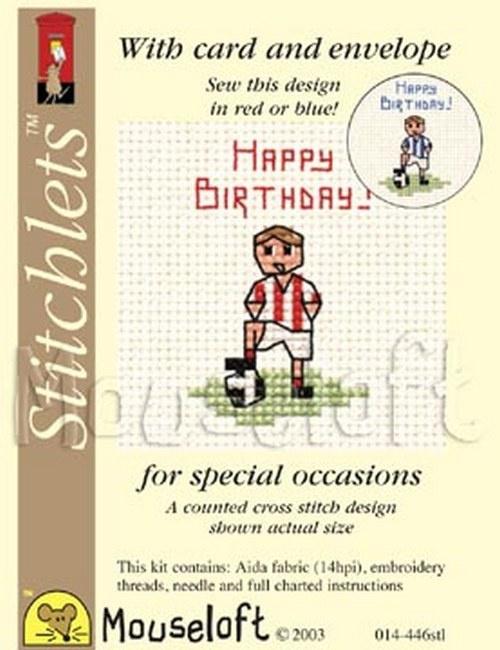 Borduurpakket happy birthday - Mouseloft