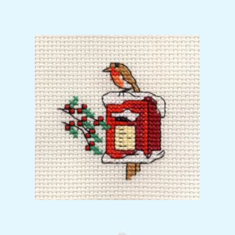 Borduurpakket Robin on postbox - Mouseloft