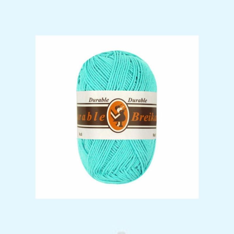 durable brei-/haakkatoen lichtturquoise