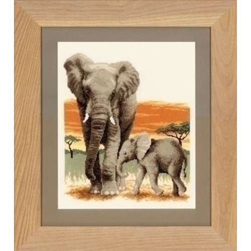Borduurpakket olifanten - Vervaco