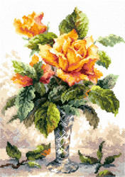 Borduurpakket yellow roses - Magic Needle