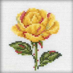 Borduurpakket yellow rose  - RTO