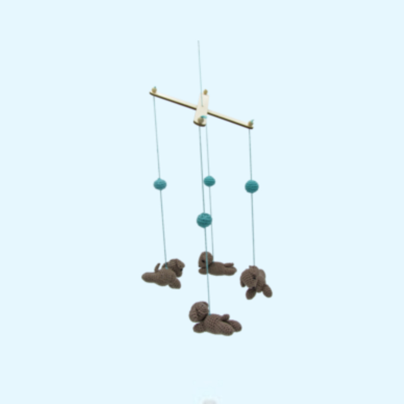 Haakpakket mobiel hondjes - Hardicraft