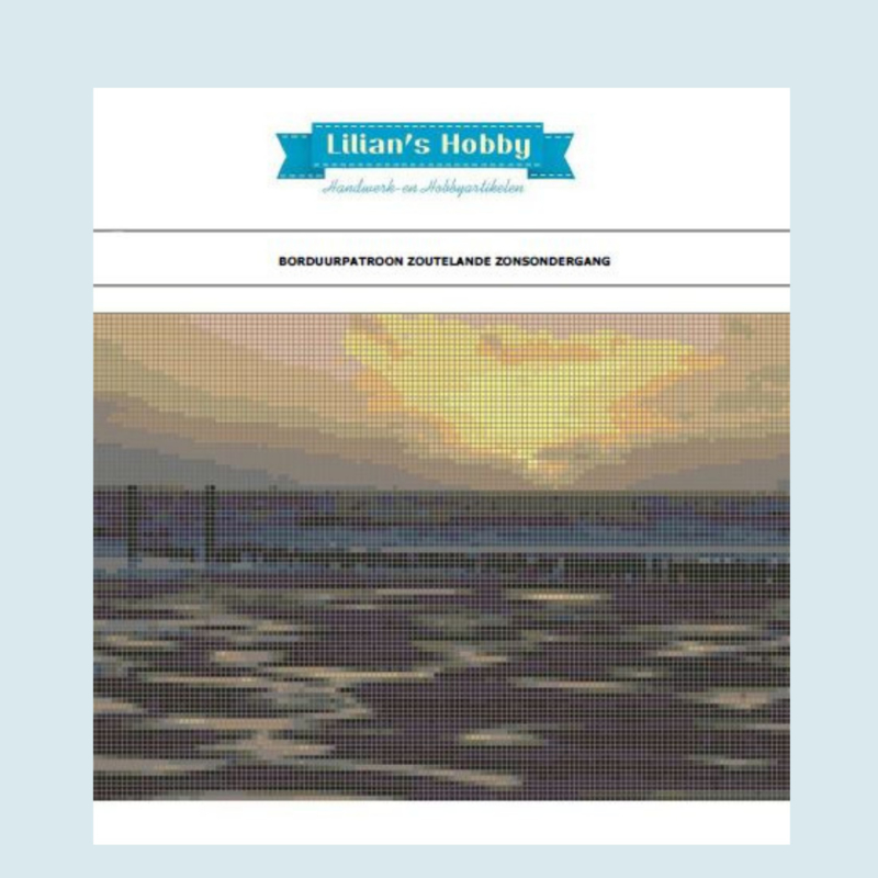Borduurpakket  Zoutelande zonsondergang - LielDesign