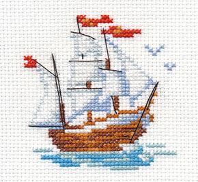 Borduurpakket little ship - Alisa