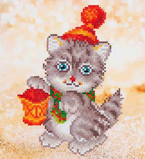 Diamond Dotz Christmas kitten glow NW-DD03-013