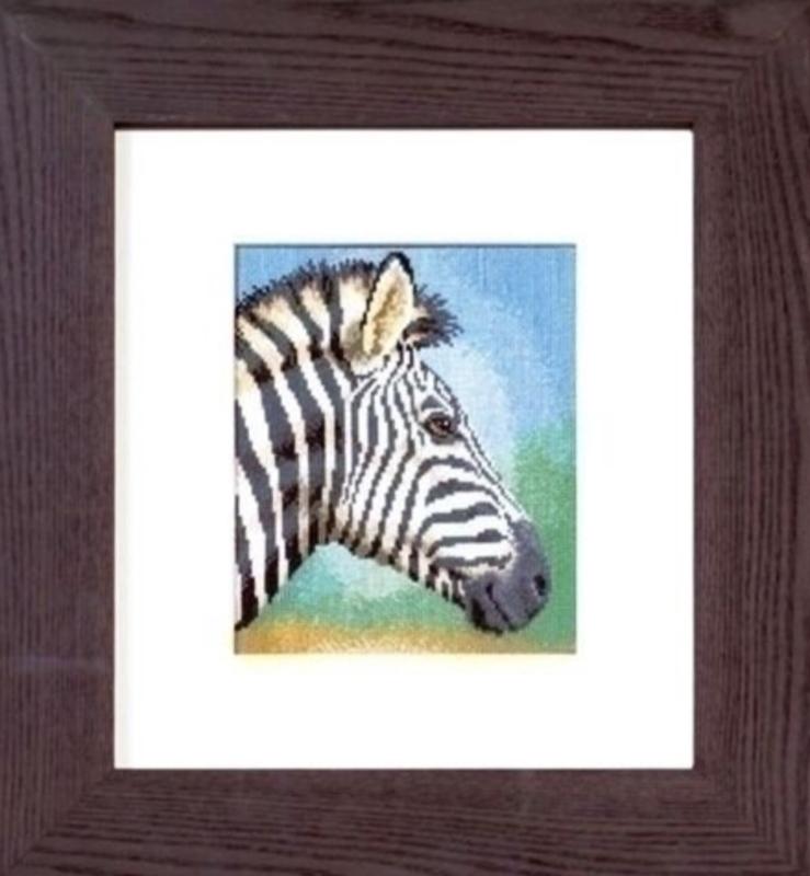 Borduurpakket zebra - Vervaco