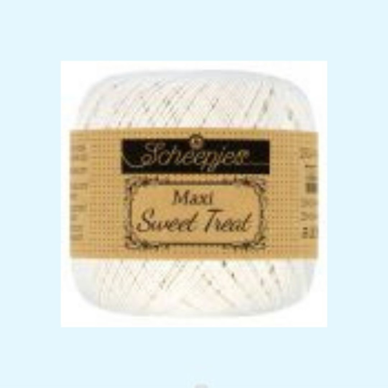 Scheepjes maxi sweet treat 105 bridal white - 25 gram