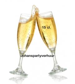 Champagne glazen 15 cl. - 40 stuks