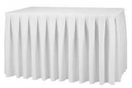 Buffet tafel + witte plooi rok - U model