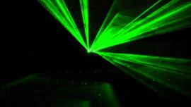 Laser - met dubbele koppen - kleur groen