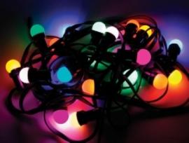 Prikkabel   Partyverlichting   20 meter   Gekleurde lampen.