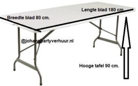 Cadeau tafel - Witte stretch rok - 180x90 cm.
