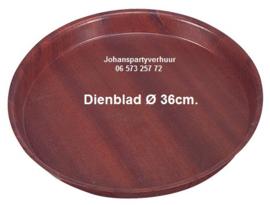 Dienblad - Ø 36 cm.