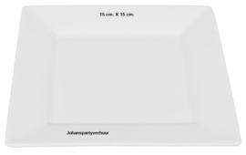 Gebaksbord vierkant 15 X 15  per 10 stuks