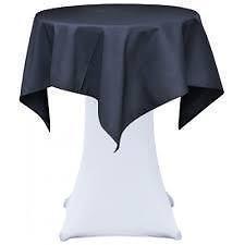 Statafel  Ø 85 cm. +  zwart top kleed